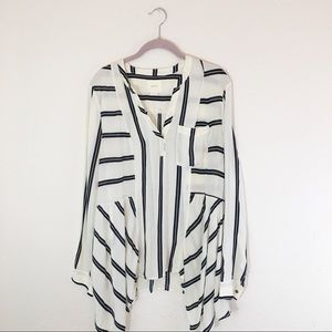 Maeve | Anthropologie Striped Career Blouse